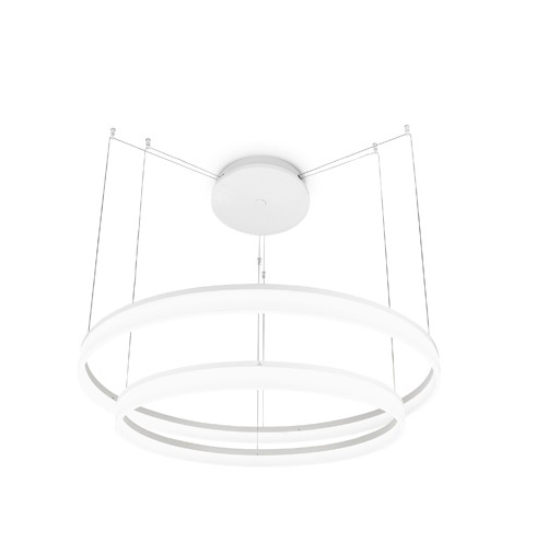 Circ Pendant Lamp circular Doble 60-80cm LED 53W - White mate