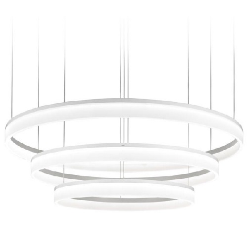 Circ Lámpara Colgante Circular triple 60-80-100cm LED 89W - Blanco mate