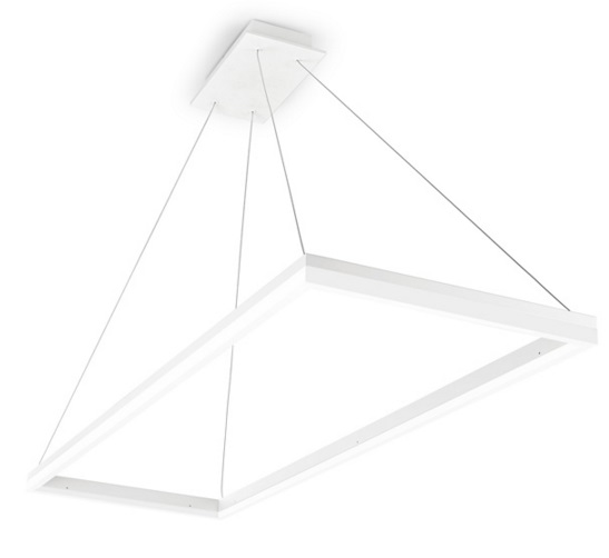 Circ Lamp Pendant Lamp square 120x40cm LED 34W - White mate