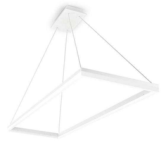 Circ Lámpara Colgante cuadrada 120x40cm LED 34W regulable - Blanco mate