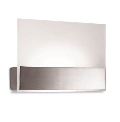 Flat Wall Lamp 40x18cm LED CREE 16W - Nickel Satin