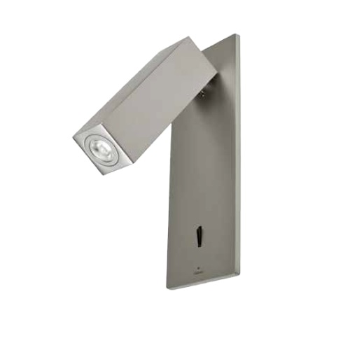 Hall Wall Lamp lector Recessed 19,2cm LED CREE 3W - Niquel Satin