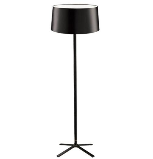 Hall Lámpara de Pie 3xE27 30W - Negro mate