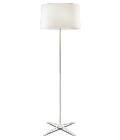 Hall Lámpara de Pie 3xE27 30W - Blanco mate