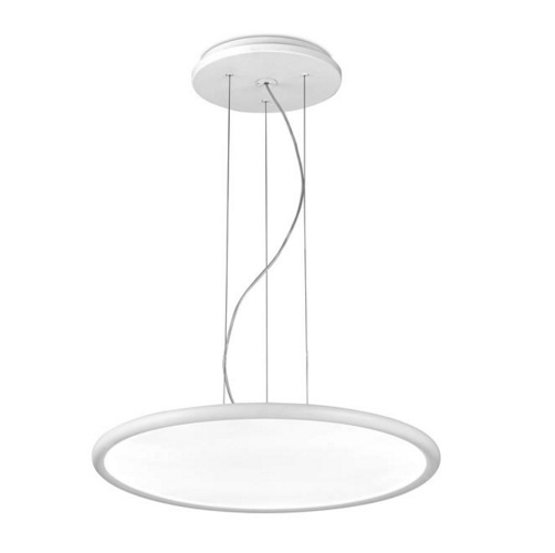Net Pendelleuchte runde 57,5cm LED 44W dimmable - weiß mate
