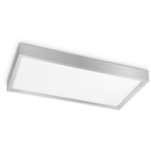 Net Plafón 60x30cm LED 45W - Níquel pintado