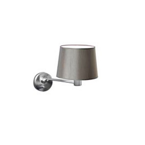 Suite II Wall Lamp articulado with lampshade and to arm 48,5cm E27 60w - Nickel Satin