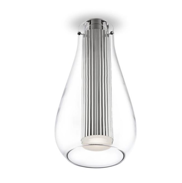 Rigatto ceiling lamp Large with Diffuser Glass LED CREE 7,2W - Chrome