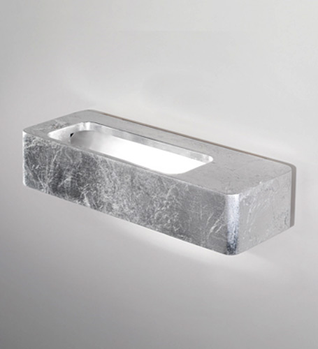 Lingotto Wall Lamp 19cm R7s 150w Silver Leaf