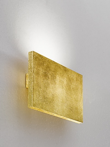 Tratto Wall Lamp 24cm LED 16,8w Doble beam Gold Leaf
