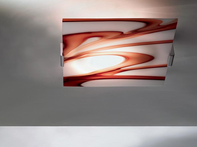 Astratto große decken Glas von Murano
