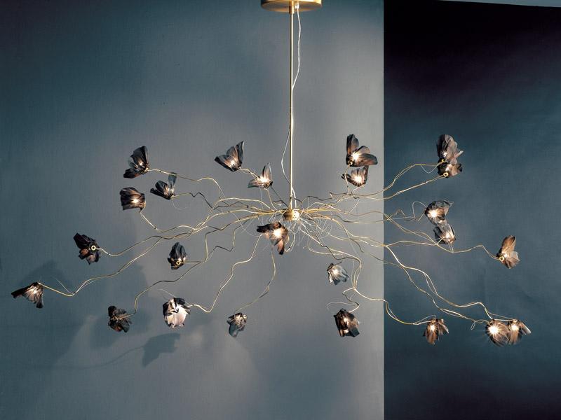 Bouquet Pendant Lamp 24L Chrome/Nickel