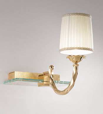 Corda Wall Lamp C/PARAL.ORO Glass 1x50W
