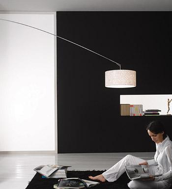 Gru Stelo lámpara of Floor Lamp white lampshade white