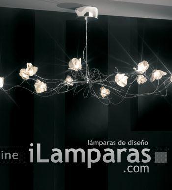 Bouquet Pendant Lamp 9L Chrome/Nickel