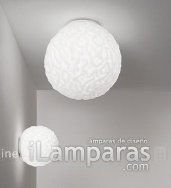 Emisfero Wall lamp/ceiling lamp ø16 Glass Soplado 1x60W