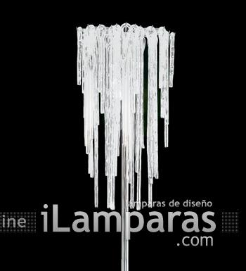 Pendagli Stelo lámpara of Floor Lamp Chrome Glass/Satin