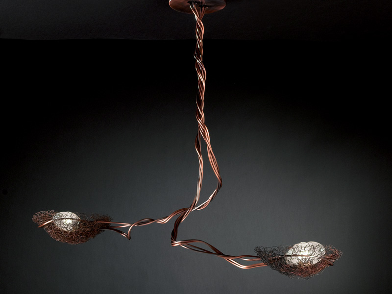 Nido Lamp PAR./ceiling lamp 2 lights Copper BRONZ.