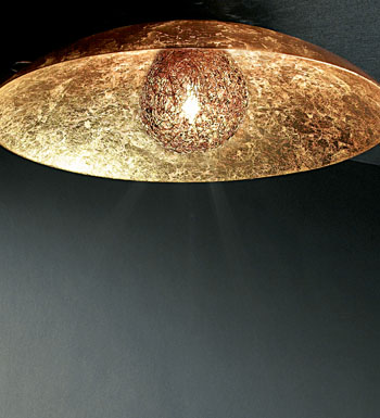 Padella Wall lamp/ceiling lamp Gold Leaf