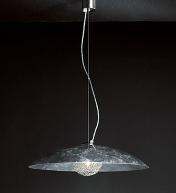 Padella Pendant Lamp 2 lights Silver Leaf