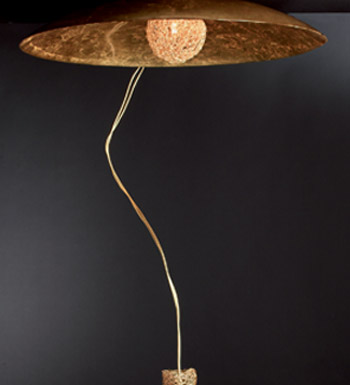 Padella ceiling lamp 2 lights Gold Leaf