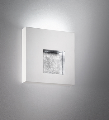 Riflessi Wall Lamp QUADRA white F.ARG DIMER + LED