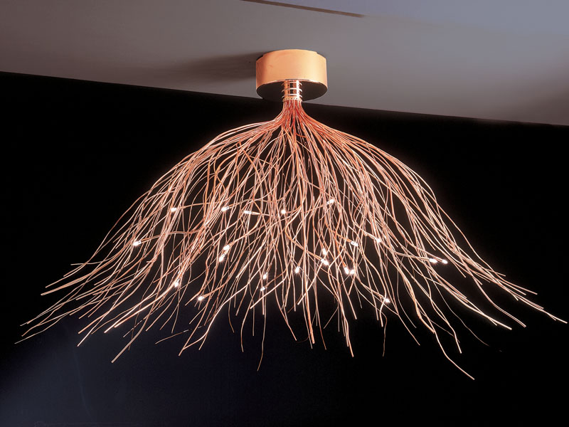 Saginna Lámpara Colgante 24 luces Cromo