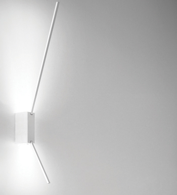 Spillo Wall Lamp 2 ASTE LED Chrome