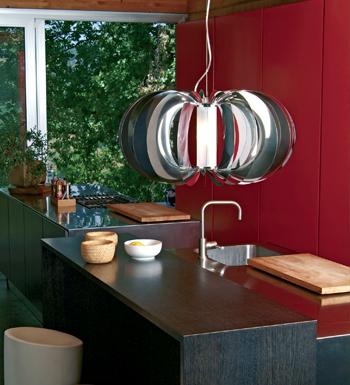 Zucca Pendant Lamp ø40 steel V.Satin