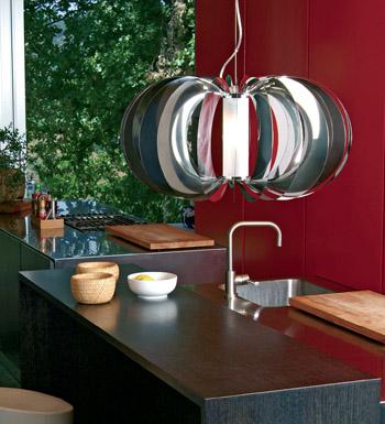 Zucca Pendant Lamp ø60 steel V.Satin