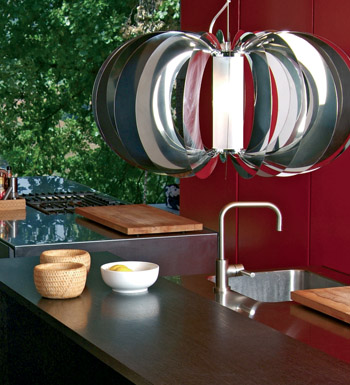 Zucca Pendant Lamp ø80 steel V.Satin
