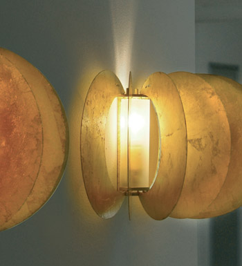 Zucca Wall Lamp steel V.Satin
