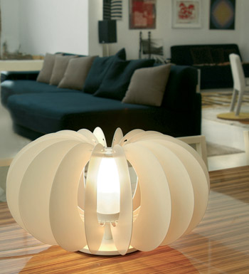Zucca Table Lamp ø45 steel V.Satin