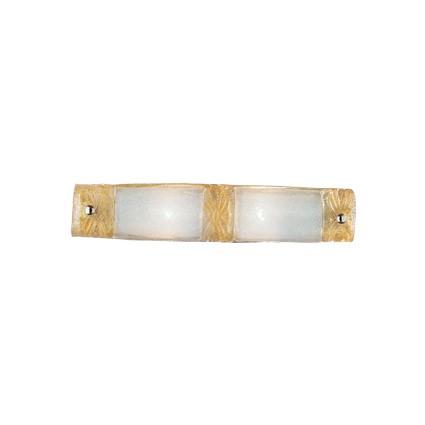 Piastra Wall Lamp AP2 2xE14 40w ámbar and Transparent