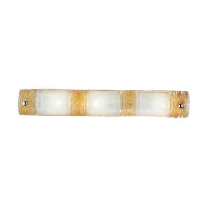 Piastra Wall Lamp AP3 3xE14 40w ámbar and Transparent
