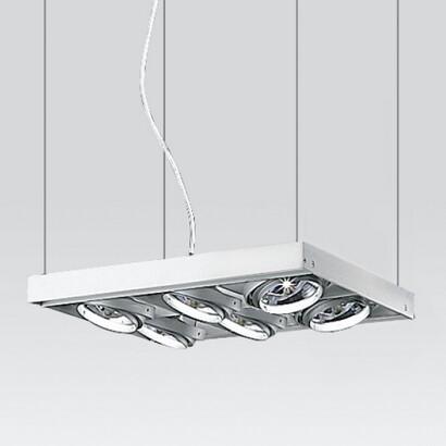 Cestello Pendant Lamp 6xQR-111 100w 12v transf elec hidden