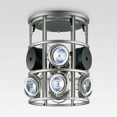 luminaire cestello suspendida incluye trois transformadores 9xQR-111 100w 12v b15d