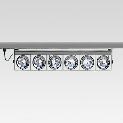 luminary cestello raíl elect 6xQR-111 100w 12v transf elec hidden