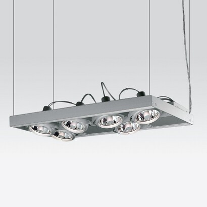 Cestello Suspension 8 organismes 6xc dimmable R111 35w equip Electrónico