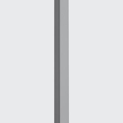 Poste enterrado seccion cuadrada 120mm para 1 Luminaria este altura: 6750 mm.