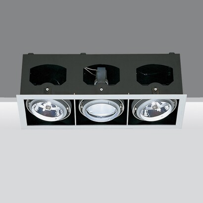 Recessed frame three bodies opticos 1x70w hit g12 2x75w qr 111 g53