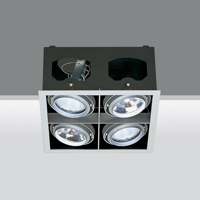 Recessed frame four bodies opticos 2x70w hi par 30 E27 2x75w qr111 g53