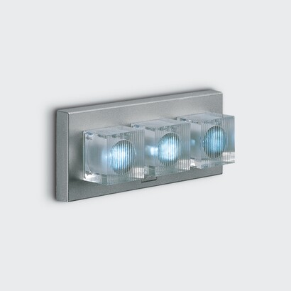 luminary glim cube óptica e Surface without Power Supply LED Blue 3x1w