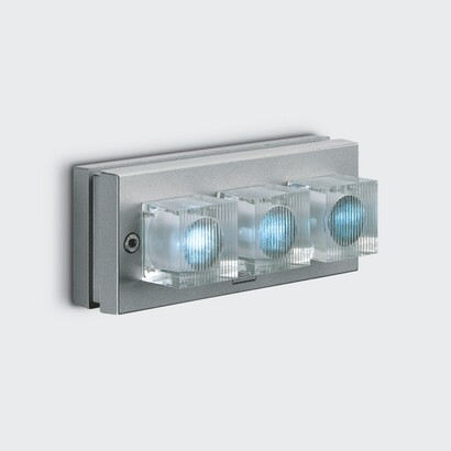luminary glim cube óptica e Surface with Power Supply LED Blue 3x1w