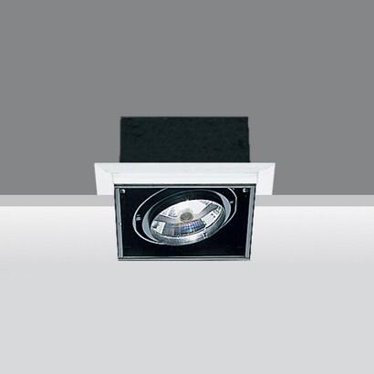 luminary minimal body optico Square 1xpar 30 75w 230v E27