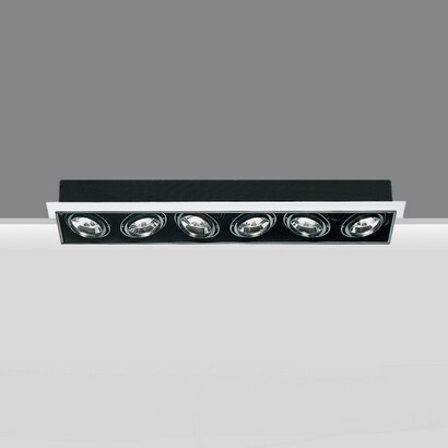 luminary minimal 6 bodies opticos 6xpar 30 75w 230v E27