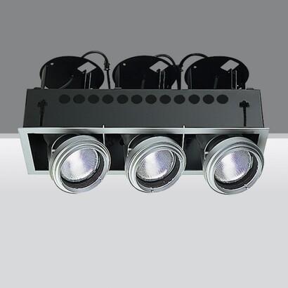Luminaria trimmer 3 Cuerpos opticos 3xhi par 30 35w E27 3xhi par 30 70w E27