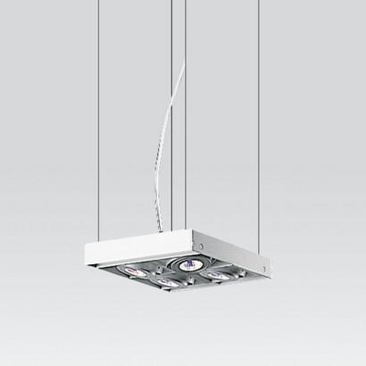 Cestello Lâmpada pingente Pequeno a 4 corpos com transformadores electrónicos 4x50W 12 V QR-CBC 51