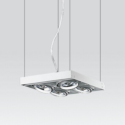 Cestello large Pendant Lamp to 4 bodies with transformadores electrónicos 4x100W 12 V QR-111