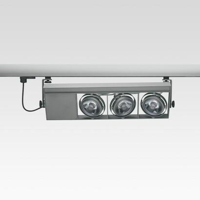 Cestello for raíl with 4 Modules, incluido 1 grupo alimentación electrónico 3x35W C dimmable R 111 (Reflector of alta eficiencia)